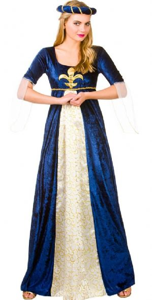 Medieval Princess Plus size Costume - Maroon (EF2148)